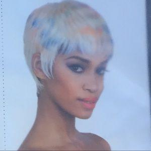 Valentina platinum blonde pixie cut style wig
